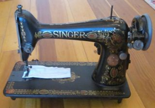 1919 Singer Sewing Machine Persian Medallion G6824093 W Knee Pedal photo