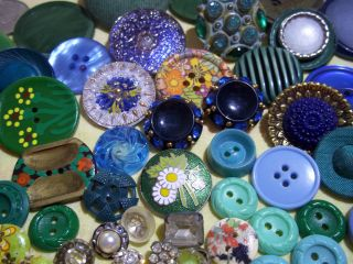 130 Buttons Lots Vintage Rhinestone New Glass Antique Czech Plastic Bakelite Sew photo