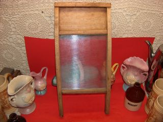 Vtg Old Small Victory Washboard Wood & Glass Neat Shabby Primitive Wall Decor photo