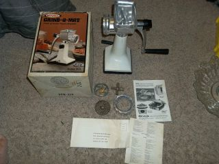 Rival Grind O Mat Meat Grinder / Food Chopper photo