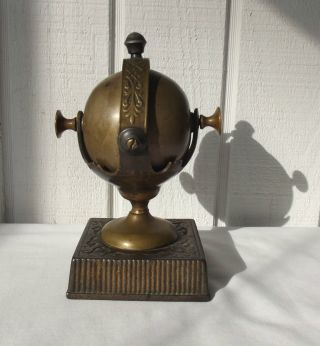 Unique Antique Victorian Era Brass Bell Hotel Store Desk Service Call Butler Nr photo