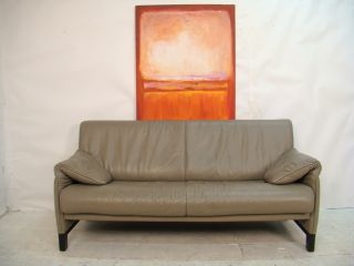 Vintage Leather Two Seater Sofa By Swiss Company De Sede photo