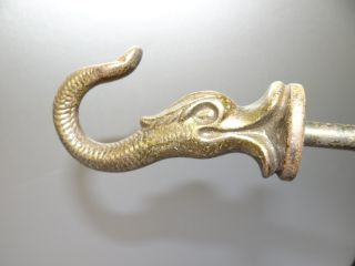Antique Old Metal Architectural Hardware Fish Clothing Coat Towel Hook Hanger Nr photo
