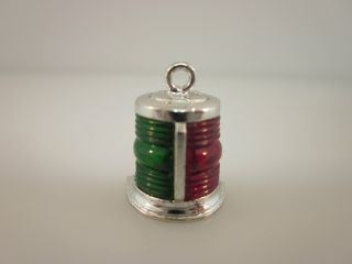 Vintage Sterling Silver 1960 ' S Navigation Light Charm His Lordship Prod. photo