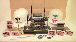 President Of Pittsburg & Midway Coal Mining Co Collection Miners Hats,  Desk Sets photo