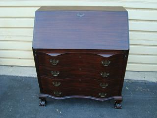 50980 Antique Mahogany Maddox Slantfront Governor Wintrop Desk photo