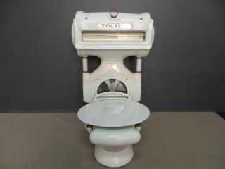 Antique 1930 ' S Commercial Toledo Butcher Scale Porcelain Produce Deli Scale photo