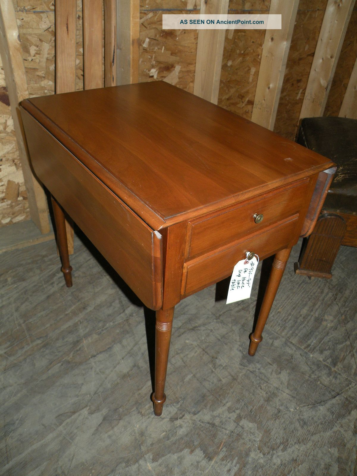 Pennsylvania Pa House Solid Cherry Drop Leaf Side Table Unknown photo