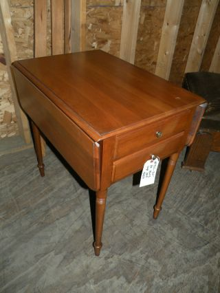 Pennsylvania Pa House Solid Cherry Drop Leaf Side Table photo