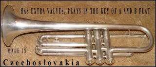 Vintage Czech Cornet In Wonderful Condition Circa 30 ' S Or So. . photo