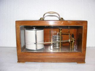 Fine Mahogany Cased Barograph,  No.  832 By Casella Of London, photo