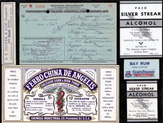 Dec 1923 Walter Jackson One Pint Liquor Prohibition Prescription Buffalo & Label photo