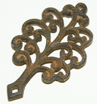 Mini Decorative Cast Iron Trivet Tree photo