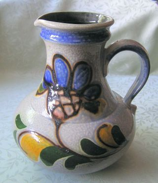 Vintage Mid Century German Ceramic Mug Jar Vase Pitcher 50 ' S Folk Art photo