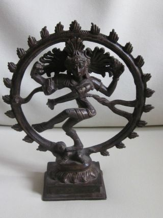 19th Century Shiva India Nataraja God Diety Bronze Statue Figure - Immaculate photo