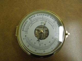 Vintages Schatz Ships Clock Royal Mariner Barometer Working photo