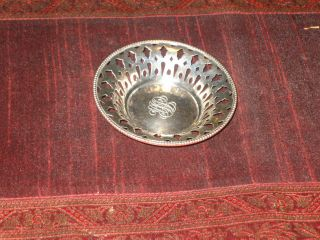 925 Fine Sterling Silver Cut Out Pierce Pin Dish /bowl photo