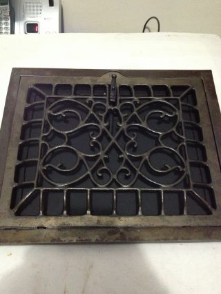 1 Of 5 Refurbished Victorian Arts Crafts Deco Cast Iron Wall Heat Grate Register photo