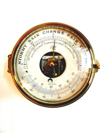 Vintage Schatz Holosteric Ships Clock Barometer Germany photo