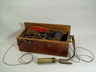 An 19th C.  Electric Shock Treatment Device - Spares Or Repair. photo