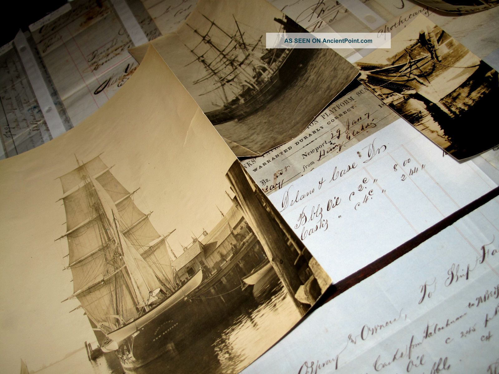 1850s Whaling Archive Documents Photos New Bedford Maritime Nautical Captstanton American photo