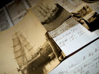1850s Whaling Archive Documents Photos New Bedford Maritime Nautical Captstanton photo