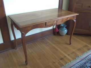 Walnut Writing Table Warren May Berea Kentucky Fine Craftsman Hand Crafted Desk photo