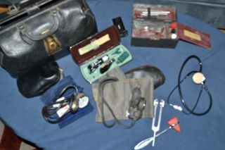 Vintage Schell Medical Bag W/ Tools photo