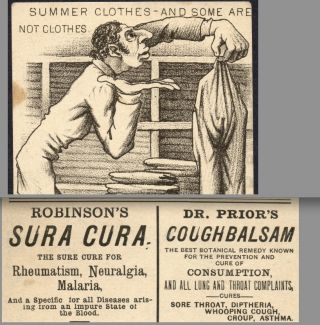 1880 ' S Jewish Malaria Cure Dr Prior Consumption Cough Botanical Remedy Lung Card photo