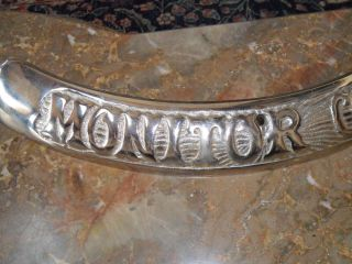 Stove Part Monitor Oak Belly Ring Name Tag Nickel - Plated Ready To Use photo