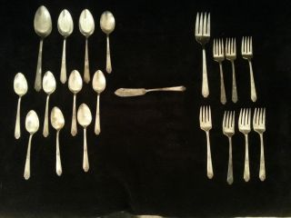 Tudor Plate Oneida Community 20 Piece Set,  Sweet Briar Pattern 1948 photo