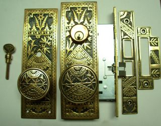Eastlake Oriental Modern Entry Doorknob Set photo