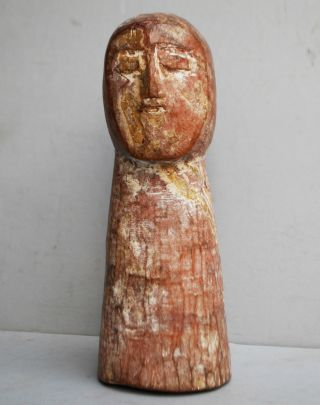 A Unique Charming Adan Tribe Statue From Ghana With Abstract Form photo