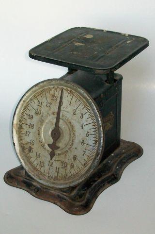 Antique Perfection Slanting Dial Scale 1906 Usa Vintage Primitive photo