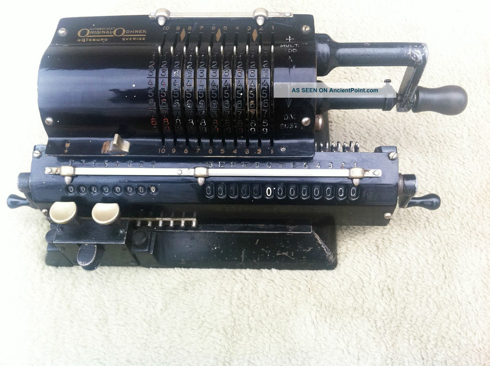 1938 Odhner pinwheel calculator Model 27 photo
