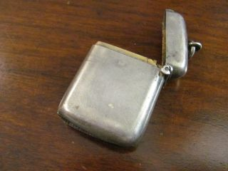 Gentlemen ' S Antique Sterling Silver Match Safe photo