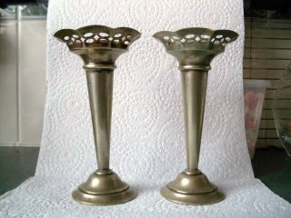 Old Pair Of Candle Sticks 5 1/4 Inches High - Approx 106 Gm.  Each photo