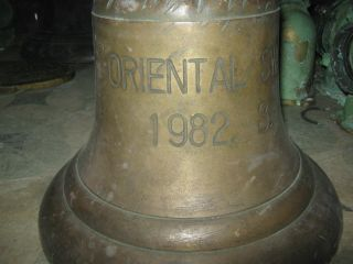 Marine Vintage Ship Brass Bell From Old Vessel - Oriental Swan - 1982 - 8 Rare photo
