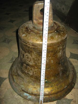 Marine Vintage Ship Brass Bell From Old Vessel Wismar - Nordsun Limassol - 1991 photo