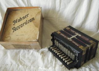 Antique Germany Honer Accordian St.  Louis 1904 World ' S Fair - Orig.  Box photo
