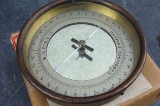 Compass Box Magnetometer Galvanometer Pye & Co Vintage Scientific Instrument photo