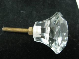Stunning Cut Crystal Glass Drawer Knob Pull Extraordinary Antique Style photo
