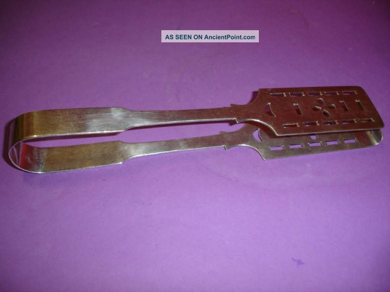 Edwardian Silverplate Asparagus Tongs Good Quality Nr Other photo