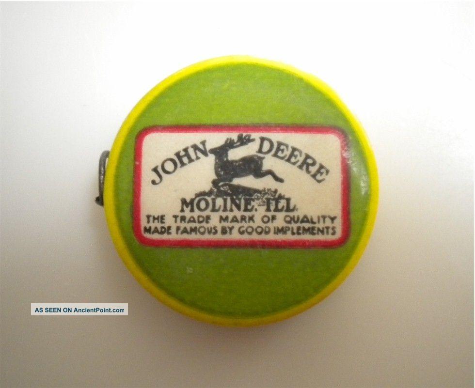 Antique Vintage Celluloid John Deere Advertising Cloth Sewing Tape Measure Tool Tools, Scissors & Measures photo