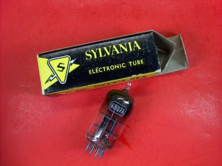 Vtg Sylvania Electron Vacuum 6bq7a Ham Radio Cb Amp Phono Tube Made In Usa Nos photo