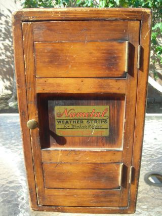 Early 1900 ' S Salesman Sample Numetal Weather Window Stripping - A Must See photo
