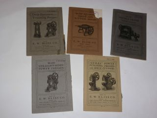 5 Vintage 1904 - 05 Ew Bliss Co Machine Tool Catalogs Presses,  Shears Pictures photo