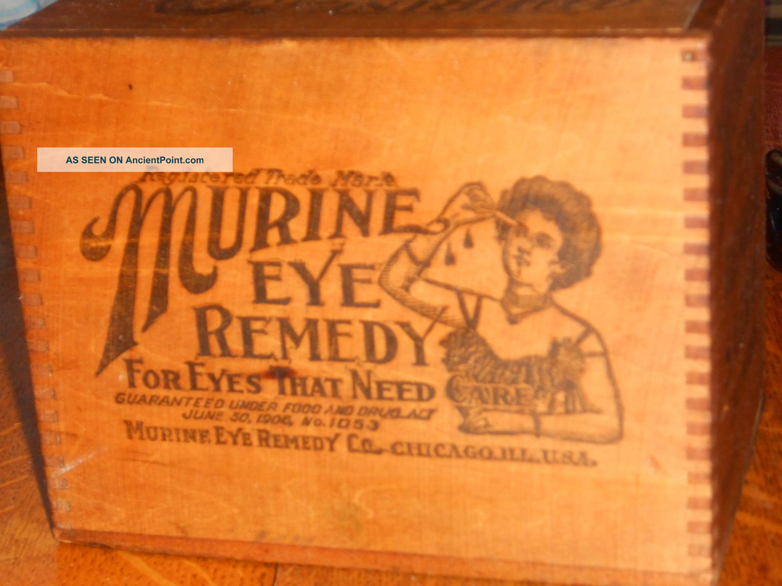 Murine Eye Remedy Dove Tailed Box From 1800s Vivid Advertising Other photo