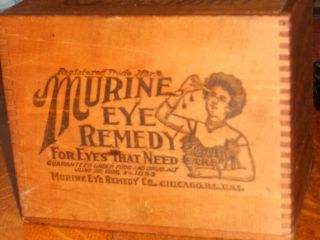 Murine Eye Remedy Dove Tailed Box From 1800s Vivid Advertising photo
