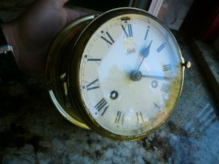 Vintage Schatz Ships Brass Royal Mariner 8 Day Clock Ship Clock photo